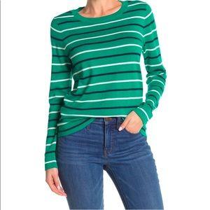 J. Crew Multicolor Stripe Print Pullover Sweater